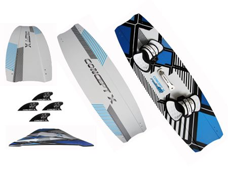 2021 CONCEPT X Kiteboard Rush 3D II Pro Series LTD incl. Pads n Straps