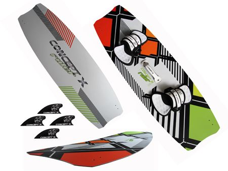 2021 CONCEPT X Kiteboard Ruler II Pro Series incl. Pads n Straps