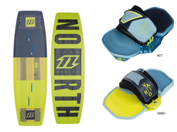 2016 North Kiteboarding Team Series 132cm with fins and handle, NO BINDINGS